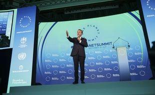 Le président Emmanuel Macron prend la parole lors d'une édition précédente du One Planet Summit le 26 septembre 2018.