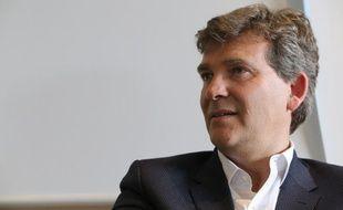 Arnaud Montebourg à Glux en Glenne le 16 mai 2016 lors d'une une reunion avec ses colistiers afin de mettre en place une nouvelle strategie et motivee ses adherents pour son nouveau parti