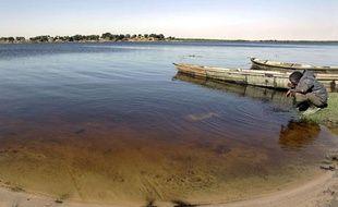 Le lac Tchad à Koudouboul, au Tchad, en novembre 2006.