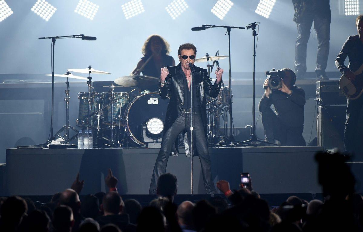 Johnny Hallyday en concert le 26 mars 2016 à Bruxelles. – AFP