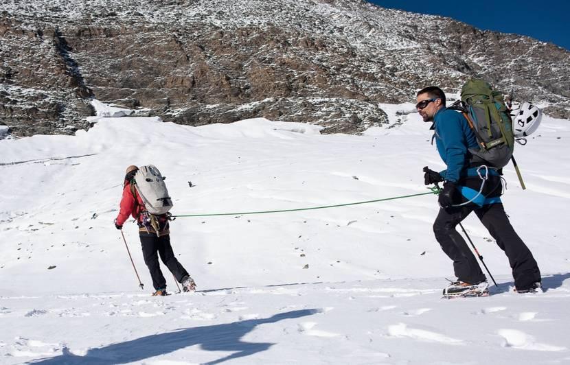 Téléthon : Malvoyant, David Labarre a escaladé l'Albaron et ses 3.637 mètres