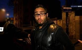 Une capture d'écran montre Jawad Bendaoud à Saint-Denis le 18 novembre 2015