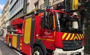 Illustration de pompiers. Ici à Lyon.