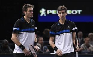 Nicolas Mahut et Pierre-Hugues Herbert ont perdu en finale du double du Masters 1000 de Bercy, le 6 novembre 2016.