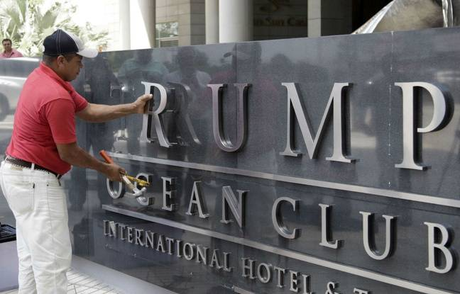 648x415 ouvrier ote lettres formant trump entree trump hotel panama city 5 mars 2018