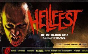 Capture d'écran du site du festival métal Hellfest.