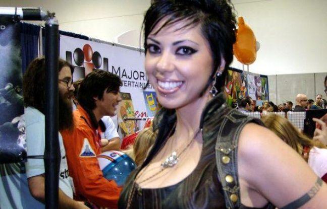 L'ex-actrice X, Satine Phoenix, au Comic-Con, le 24 juillet 2010