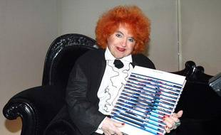 Yvette Horner le 19 octobre 2011 à Paris lors de la soirée consacrée à la sortie du livre de Jean-Paul Gaultier, «La planète mode Jean-PaulGaultier».