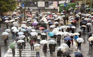 Jour de pluie à Tokyo, au Japon.