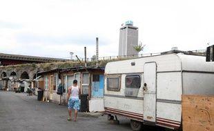 Le campement de Roms du Hanul, en Seine-Saint-Denis.