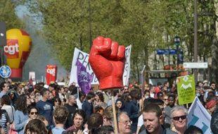 Illustration d'une manifestation le 19 avril 2018 à Paris.