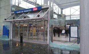 La gare sud a été vandalisée
