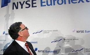 Le directeur général de la plateforme boursière NYSE Euronext Duncan Niederauer a reconnu mercredi que son projet de fusion avec Deutsche Börse, qui doit créer le premier opérateur boursier au monde, serait probablement bloqué par la Commission européenne.