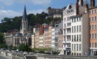 Lyon, le 04 Mai 2014 Differentes vues du quartier du Vieux-Lyon qui a ete menace de destruction et qui a ete sauve il y a 50 ans, le 12 mai 1964 par l'association Renaissance du Vieux-Lyon.
