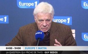 Guy Bedos, lundi 19 janvier 2015 sur Europe 1