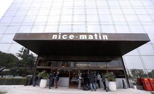 L'entrée du quotidien Nice-matin à Nice, le 20 décembre 2012