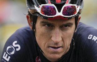 Le Britannique Geraint Thomas franchit la ligne d'arrivée de la 9e étape du Tour de France à Tignes, le dimanche 4juillet 2021.