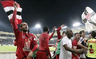 A Toulouse, les Guingampais fêtent leur victoire en demi-finale de la Coupe de France 2009.