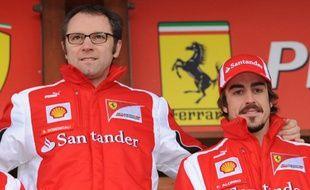 Stefano Domenicali en compagnie de Fernando Alonso, en 2011.