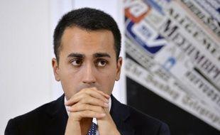 L'un des principaux représentants du mouvement Cinq Etoiles, Luigi Di Maio, lors d'une conférence de presse à Rome le 18 décembre 2014