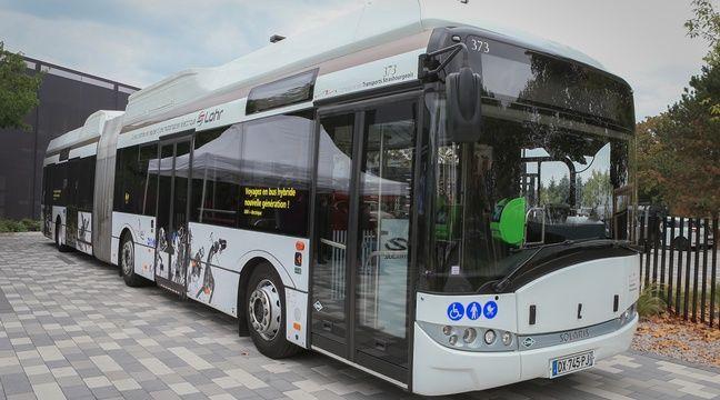 Le bus équipé d'un essieu électrique de la CTS – G. Varela / 20 Minutes