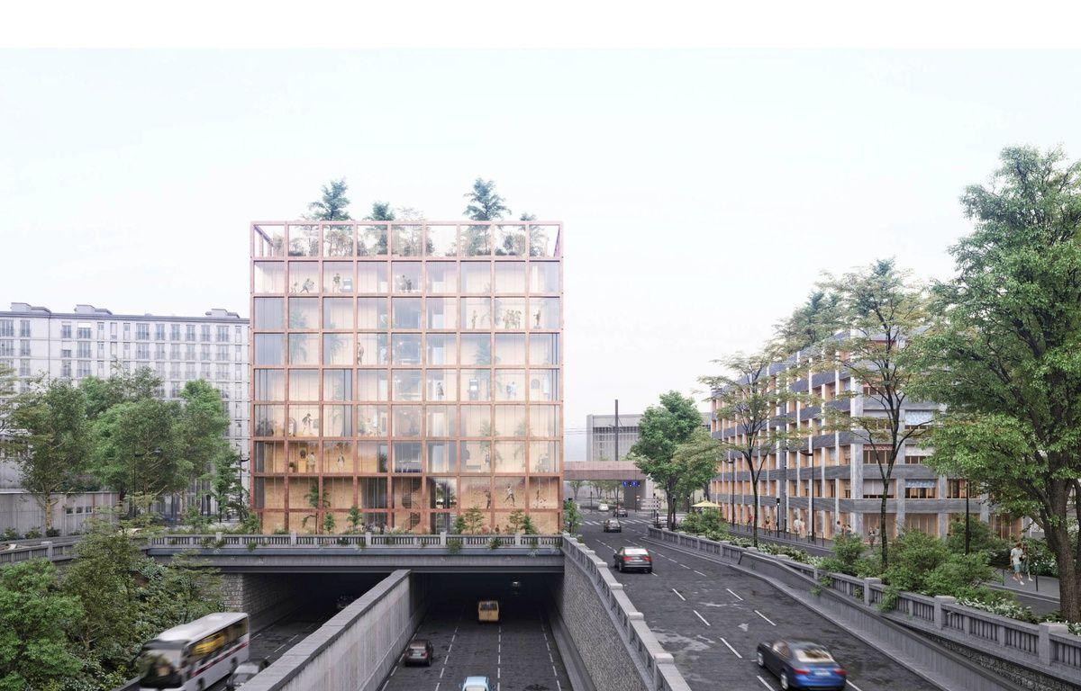 Paris vague de surf immeuble sur le p riph 51 projets - Plan du peripherique parisien les portes ...