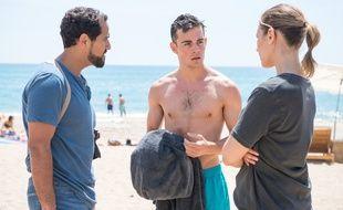 Samy Gharbi, Clément Rémiens et Lorie Pester en tournage pour « Demain Nous Appartient »