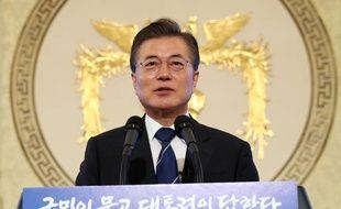 Le président sud-coréen Moon Jae-in, le 17 août 2017.