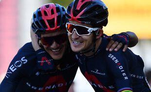 L'Equatorien Richard Carapaz et le Polonais Michal Kwiatkowski ont célébré avec beaucoup d'émotion leur succès majeur ce jeudi à La Roche-sur-Foron. Stuart Franklin