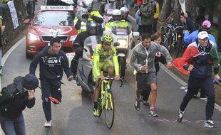 Matteo Rabottini lors de la 15e étape du Giro 2012, qu'il a remportée.