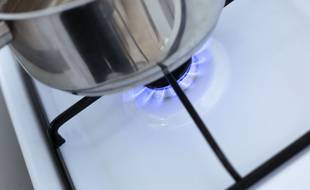 Illustration d'une cuisinière à gaz.