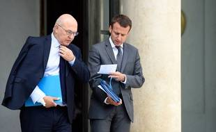 Michel Sapin et Emmanuel Macron, le 29 juillet 2015.
