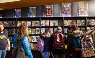 Visiteurs au Festiva de la  bande dessinée d'Angoulême le 28 janvier 2017