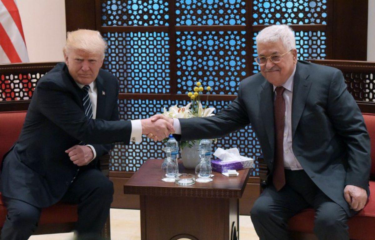 Donald Trump et Mahmoud Abbas à Bethléem, le 23 mai 2017. – MANDEL NGAN / AFP
