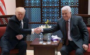 Donald Trump et Mahmoud Abbas à Bethléem, le 23 mai 2017.