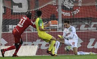 Le but encaissé par le FCN, samedi soir, à Dijon.