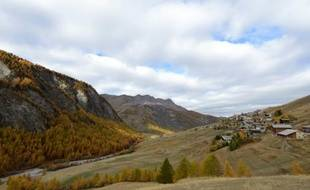 Saint-Véran, le village le plus d'Europe (2.042 mètres d'altitude), dans les Alpes françaises, le 25 octobre 2013