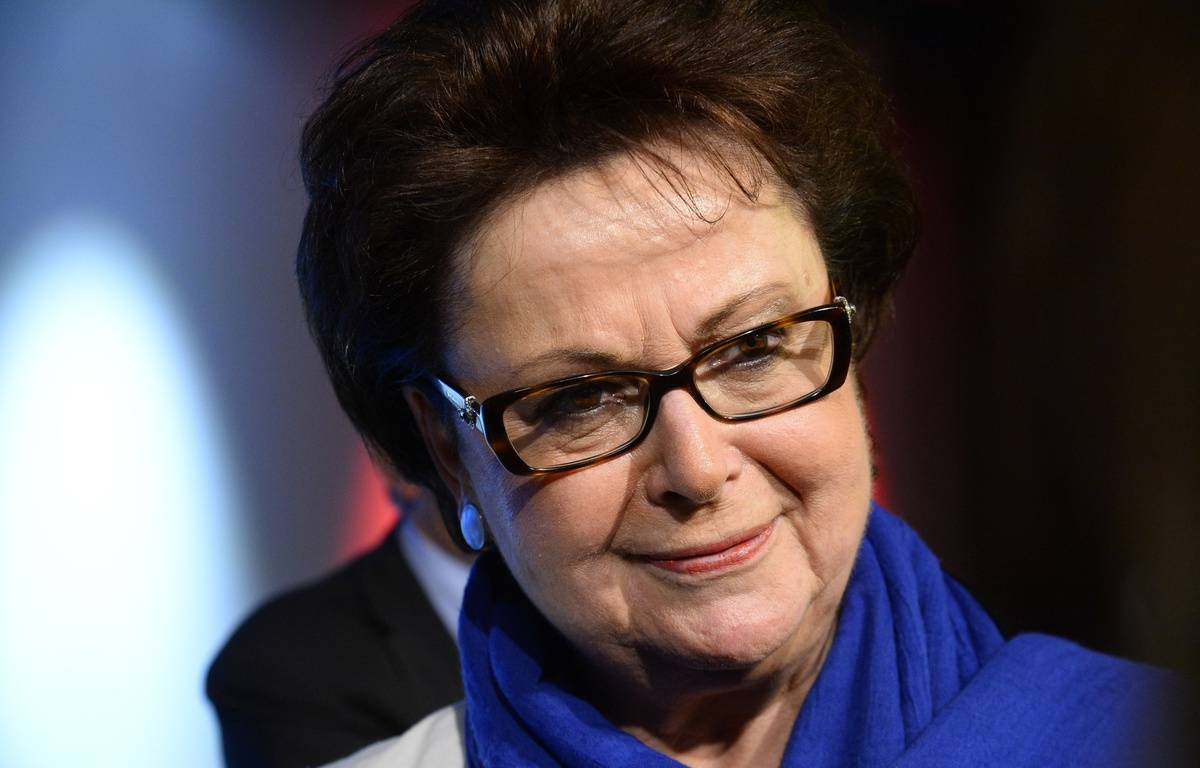 Christine Boutin en meeting à Paris le 17 mai 2014.  – BERTRAND GUAY / AFP