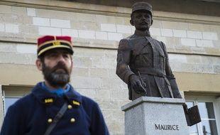 Le mémorial Maurice Genevoix aux Eparges, le 6 novembre 2018.
