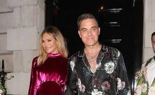 Les époux Ayda Field et Robbie Williams à Londres