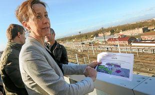 Jeudi, Fabienne Keller a présenté son projet pour l'arrière de la gare.