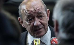 Le ministre de la Défense, Jean-Yves Le Drian à Washington le 2 octobre 2014
