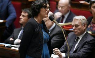 La ministre du Travail Myriam El Khomri, le 26 avril 2016 à l'Assemblée nationale à Paris