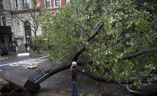 Mardi 30 octobre 2012,New York découvrait les dégâts causés par l'ouragan Sandy pendant la nuit.