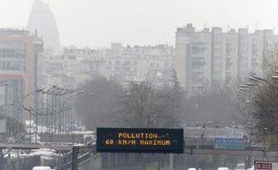 Pollution le 15 mars 2014 sur les périphériques parisiens