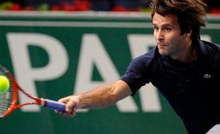Fabrice Santoro, le 8 novembre 2009, pour le dernier tournoi de sa carrière à Bercy.