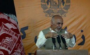 Le président afghan  Ashraf Ghani à Kaboul, le 14 octobre 2015