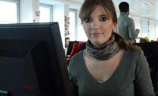 Aurore Bergé, à la rédaction de 20 Minutes