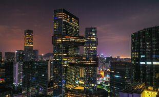 Photo d'illustration de gratte-ciels à Shenzen (Chine).
