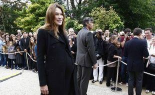 Carla Bruni lors des Journées du Patrimoine, le 17 septembre à l'Elysée.